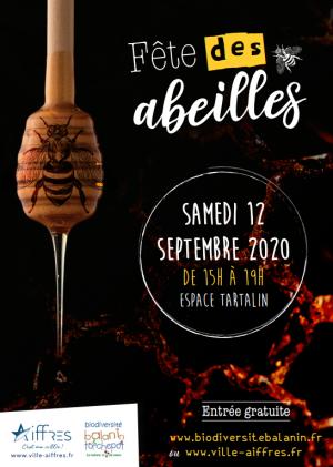 Affiche fête abeilles 12 septembre 2020